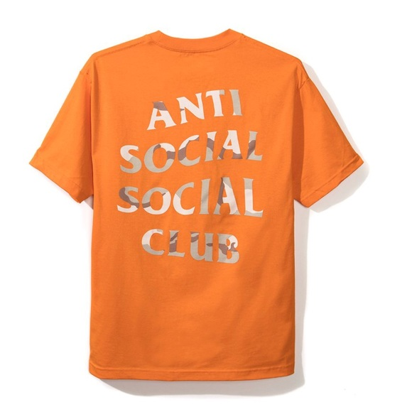 9db9afff9921 NEW Anti Social Social Club ASSC Storm Orange Tee